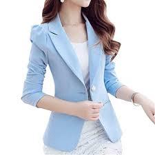 2016 New Long-Sleeved Slim <b>Women Blazers</b> And <b>Jackets</b> Small ...