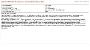technician cover letters 2 plant and maintenance technician mechanical technician cover letter