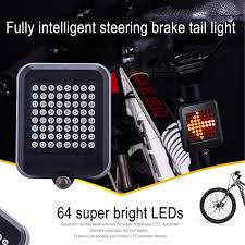 64-LED <b>Intelligent Steering Brake</b> Light, Safety Riding Bicycle ...