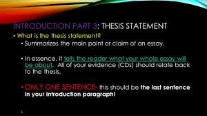 "the most dangerous game"" by richard connell  paragraph essay an    introduction part   thesis statement what is the thesis statement  summarizes the main point"