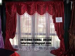 room curtains catalog luxury designs: unique red drapes curtain with sheer layer for living room