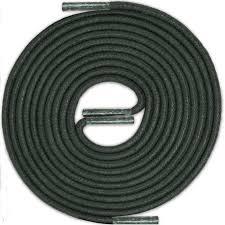 <b>DARK GREEN</b> Thin <b>Elegant</b> Round Waxed Shoelaces Diameter 2 mm