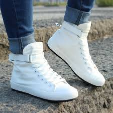Spring/<b>Autumn Men Casual Shoes</b> Breathable High-top Lace-up ...