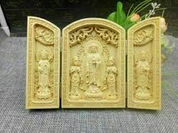 <b>Oriental Vintage</b> Boxwood <b>Handwork Carved</b> Buddha Statue for sale ...