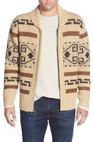 Pendleton 'Original Westerly' Shawl Collar Zip Sweater from 1972 ...