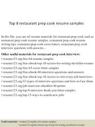 top  restaurant prep cook resume samplestop  restaurant prep cook resume samples in this file  you can ref resume materials