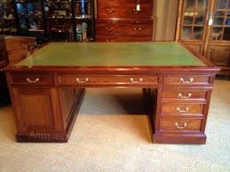 antique mahogany partners desk antiques atlas antique mahogany large home office unit