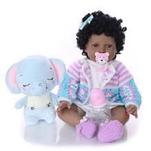 22 <b>&quot</b>;reborn baby черная кукла африканская девочка <b>ручной</b> ...