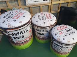 Liverpool Anfield Road <b>Storage stools</b> set of <b>Three</b>