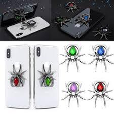 Fashion Universal Luxury <b>Metal Spider Bling</b> Finger Ring <b>Holder</b> ...