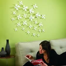 umbra wallflower wall decor white set: amazoncom umbra wallflower wall decor black set of  home amp kitchen