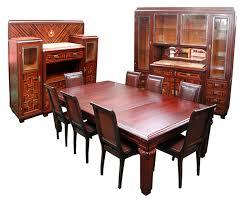 1920 descriptionspectacular large scale art deco 11 piece dining room suite in ebony de macassar signed j cayette nancy jules cayette 1882 1953 art deco dining suite