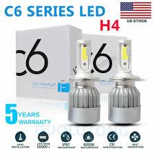 2PCS H1 200W 20000LM COB <b>C6 Car LED</b> Headlight Bulbs ...