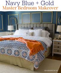 master bedroom gorgeous navy blue gold master bedroom makeover four with stylish as well as bedroomdelightful elegant leather office