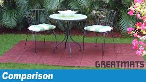rubber decking tiles patio
