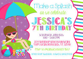 pool party invitation template word pool party invitations templates