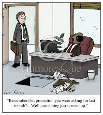 cartoon remember that promotion you were asking for last month trap door boss cartoon
