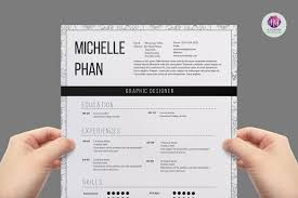 modern page resume resume templates on creative market