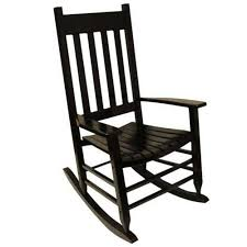 Style Selections Black Wood <b>Rocking Chair</b>(s) with Slat Seat in the ...