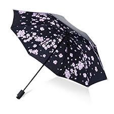 HQYXGS <b>Folding Umbrella</b>, <b>Cherry</b> Blossom Dome C-<b>Handle</b> ...
