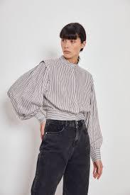 <b>Блузка</b> в полоску молочный в полоску цвет - <b>Рубашки</b> и <b>блузки</b> ...