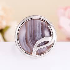Купить <b>Кольцо агат серый</b> Ботсвана (<b>серебро</b> 925 пр.) размер 19 ...