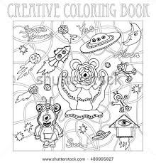Small Picture Coloring Page Dog Two Cats Sparrow Stock Vector 696074374