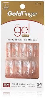 Gold Finger Posh Queen Glue-on Fashion Nails 24 ... - Amazon.com