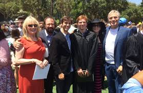 from buffalo to hollywood chasing the impossible dream the at joe lieberman s high school graduation are from left his stepmother victoria peters father rob lieberman brother nick lieberman mother marilu henner