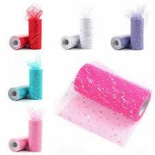 """6""""x <b>10Y</b> Glitter <b>Tulle Tutu</b> Roll Wedding Party Gift Bow Ribbon Fabric ..."""
