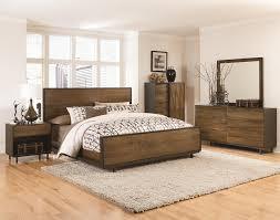 brown oak panel bedroom