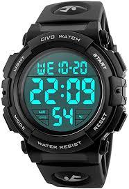 <b>Mens Digital</b> Sports <b>Watches</b> Military Big Numbers 50M <b>Waterproof</b> ...