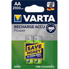 <b>Аккумулятор VARTA</b> АА пальчиковый LR6 1,2 В 2100 мАч (2 шт ...