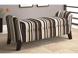 storage bench for living room: bench seating storage awesome modern bench seating living room brown striped fabric upholstery bench great brown