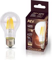 <b>Лампочка REV Deco Premium</b> Filament A60, Теплый свет, E27, 11 ...