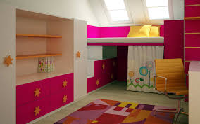 themed kids room designs cool yellow: bedroomstylish kids room decoration with cool study desk under bunk bed idea admirable modern