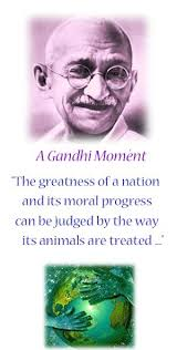 The greatness of a nation and it's moral progress can be judged by ...
