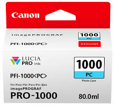 Buy <b>Canon PFI</b>-<b>1000PC</b> Ink <b>Photo Cyan</b> (0550C001)