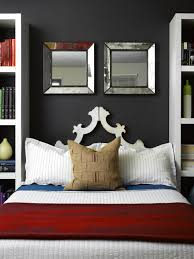 decorated bedroom mirrored