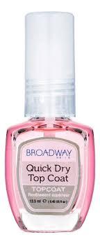 <b>Быстросохнущий фиксатор лака Broadway</b> Quick Dry Top Coat ...