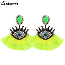 <b>Sehuoran Tassel Earrings</b> For Women Vintage Earrings Geometric ...