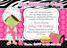 spa sleepover party birthday invitation diy print your own spa sleepover party birthday invitation diy print your own choose your girl matching