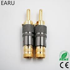 4pcs <b>High Quality New Copper</b> Nakamichi Speaker Cable Banana ...