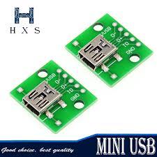 <b>3Pcs Mini Usb</b> To Dip <b>Adapter Converter</b> For 2.54MM Pcb Board ...