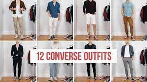 12 Ways to Style Converse <b>Sneakers</b> | <b>Men's Fashion</b> | Outfit Ideas ...