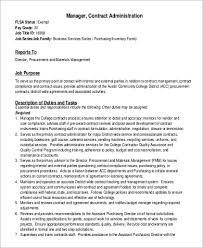 contract administration manager job description example contract manager job description