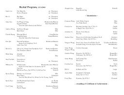 best images of christmas piano recital program template dance recital program template
