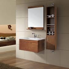 wooden small wall mounted bathroom sink