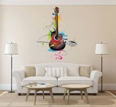 cik383 <b>Full Color</b> Wall decal Violin Musical <b>Instruments</b> music song ...