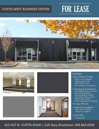builder branding curtis west business center marketing flyer